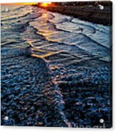 Gulf Sunset Acrylic Print by Perry Webster