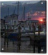 Gulfport Sunset Acrylic Print