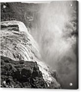 Gullfoss Iceland In Black And White Acrylic Print