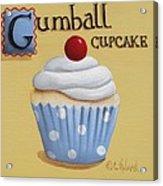 Gumball Cupcake Acrylic Print