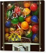Series - Gumball Silver Bars With Graffiti - Iconic New York City Acrylic Print