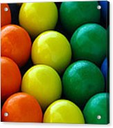 Gumballs Acrylic Print by April Wietrecki Green