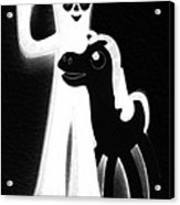 Gumby And Pokey B F F Black White Acrylic Print