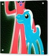 Gumby And Pokey B F F Negative Acrylic Print