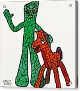 Gumby And Pokey Not For Sale Acrylic Print