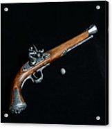 Gun - Musket With Musket Ball Acrylic Print