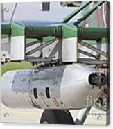 Gun Pod On A Slovakian Mi-17 Helicopter Acrylic Print