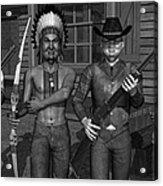 Gunfight At The Okey Dokey Corral - Black And White Acrylic Print