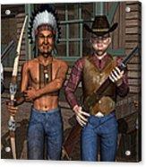 Gunfight At The Okey Dokey Corral Acrylic Print