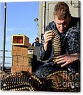 Gunners Mate Sorts Ammunition Acrylic Print