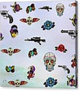 Guns And Roses  Acrylic Print