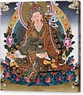 Guru Rinpoche Thangka Art Canvas Acrylic Print