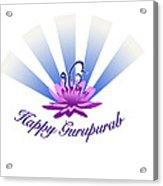 Gurupurab Greetings Acrylic Print