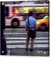 Crossing The Street - Traffic Acrylic Print