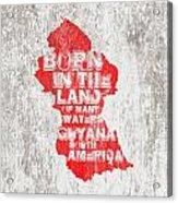 Guyana Map Acrylic Print
