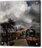 Gwr Steam Train Pulling Into Platform Acrylic Print