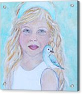 Gwyneth Little Earth Angel Of Happiness Acrylic Print