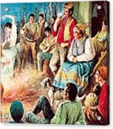 Gypsies Partying Acrylic Print