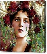 Gypsy Girl Of Autumn Vintage Acrylic Print