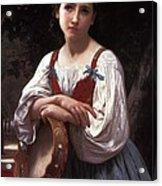 Gypsy Girl With A Basque Drum Acrylic Print