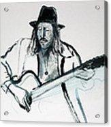 Gypsy Guitarist Acrylic Print
