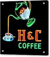 H And C Sign Acrylic Print