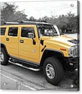 Hummer H2 Series Yellow Acrylic Print