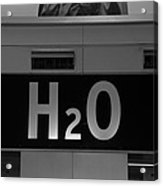 H2o In Black And White Acrylic Print