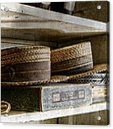 Haberdasher's Vintage Straw Hats  Acrylic Print by Dick Wood