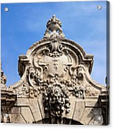 Habsburg Gate Details In Budapest Acrylic Print