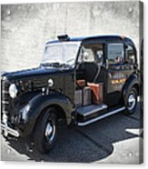 Hackney Carriage Austin Fx3 Of London C. 1955 Acrylic Print