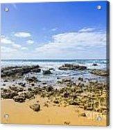Hadera Mediterranean Beach Acrylic Print