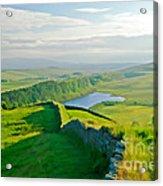 Hadrians Wall And Crag Lough Acrylic Print