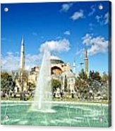 Haghia Sophia Fountain 02 Acrylic Print