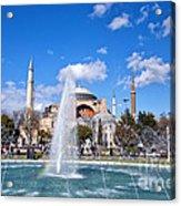 Haghia Sophia Fountain Acrylic Print