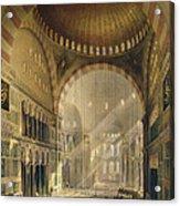 Haghia Sophia, Plate 24 Interior Acrylic Print by Gaspard Fossati