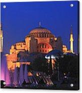 Hagia Sophia At Night Istanbul Turkey  Acrylic Print