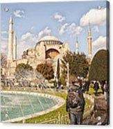 Hagia Sophia Editorial Acrylic Print by Antony McAulay