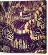 Hagia Sophia Lighting Acrylic Print