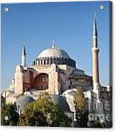 Hagia Sophia Mosque Landmark In Instanbul Turkey Acrylic Print