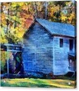 Hagood Mill With Sunrays Acrylic Print
