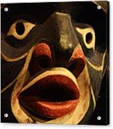 Haida Carved Wooden Mask 5 Acrylic Print