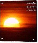 Haiku Sundown Acrylic Print