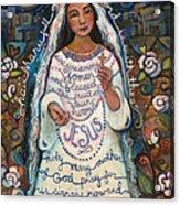 Hail Mary Acrylic Print by Jen Norton