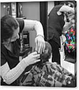Hair Dresser - The First Cut Acrylic Print