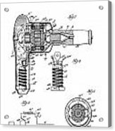 Hair Dryer 3 Patent Art 1931 Acrylic Print