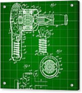 Hair Dryer Patent 1929 - Green Acrylic Print