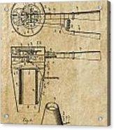 Hair Dryer Patent Art 1911 Acrylic Print
