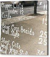 Hair Salon Sign Acrylic Print