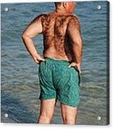 Hairy Ocean Acrylic Print